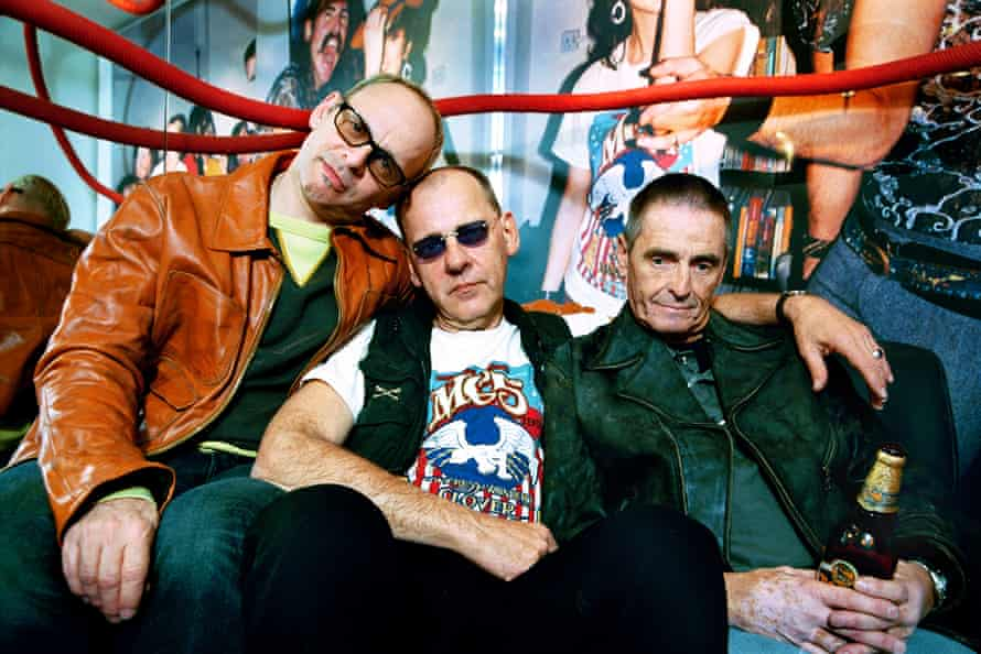 MC5 in London – from left to right: Wayne Kramer, Dennis Thompson and Michael Davis.
