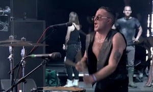 Slapstick fun punk … Slaves on the John Peel stage at Glastonbury.