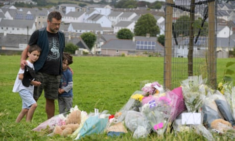 Tributes to the victims of the attack in the Keyham area of Plymouth on Saturday.