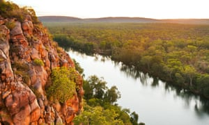 Katherine River from the top at sunset.CY5JEP Katherine River from the top at sunset.