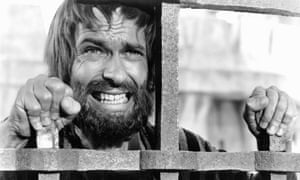Rip Torn as Judas Iscariot cringes as Jesus is prepared for the crucifixion in a scene from the MGM epic King Of Kings, 1961