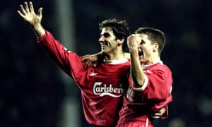 Karl-Heinz Riedle and Michael Owen of Liverpool scored two goals apiece in a roaring comeback.
