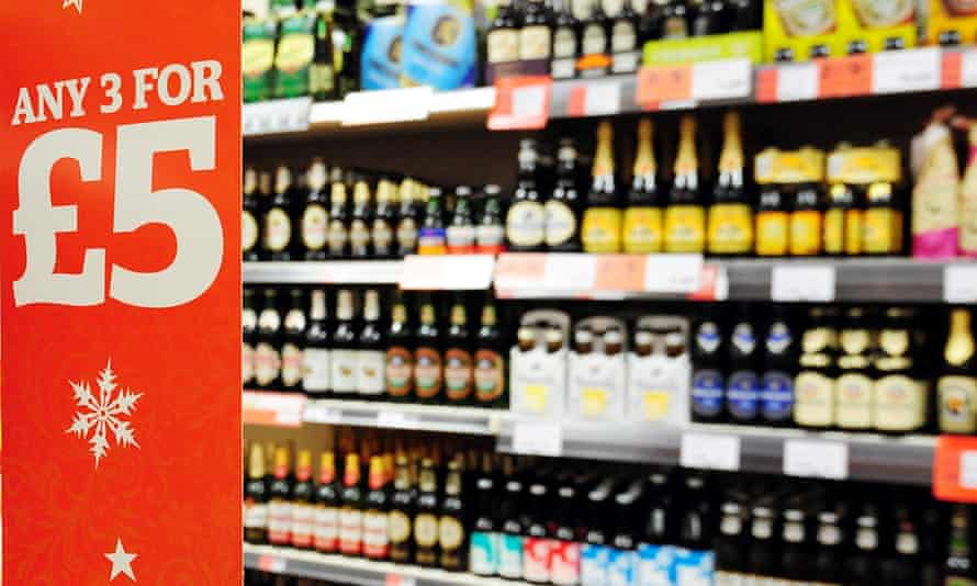 Alcohol aisle.