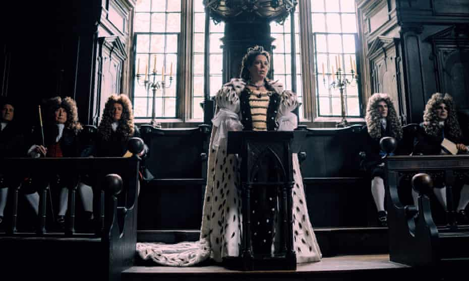 'Simply superb as the miscast monarch': Olivia Colman as Queen Anne in The Favourite.