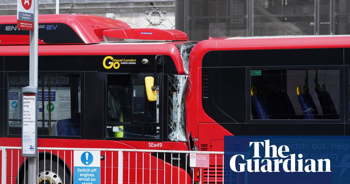 Woman killed as buses collide at Victoria station in London