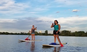 Park life … paddleboarding is one of many activities that can be done close to the city centre