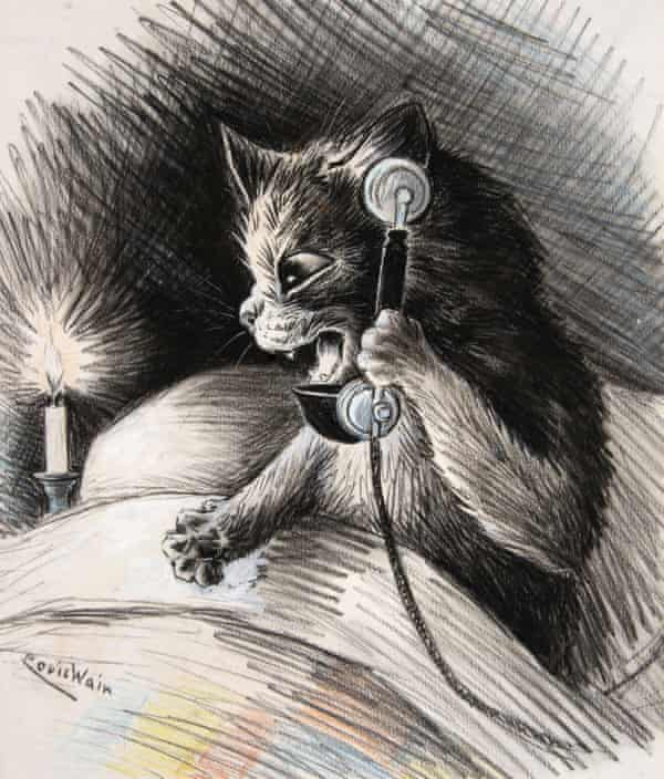 One of Louis Wain's anthropomorphic images