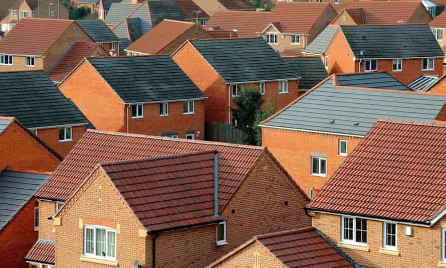 a new housing estate in Derbyshire