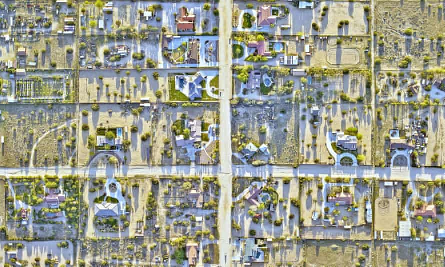 Aerial view of Palmdale, California
