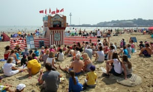the Punch and Judy show on Weymouth beach.