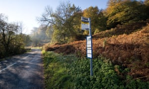 Bus stop in Forest of Dean