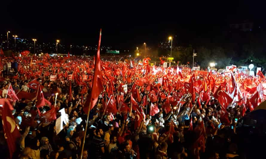 A pro-government rally in Istanbul on Sunday.