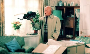 Richard Wilson in BBC's One Foot in the Grave for the series' final run in 2000