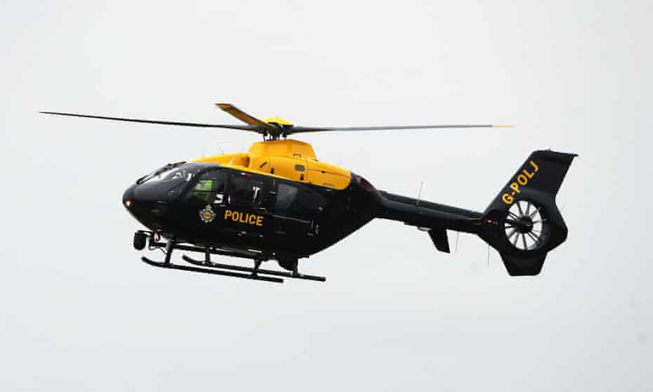 A police helicopter was used to locate the missing girl at Umberleigh, Devon.