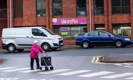 A woman out shopping in Northampton