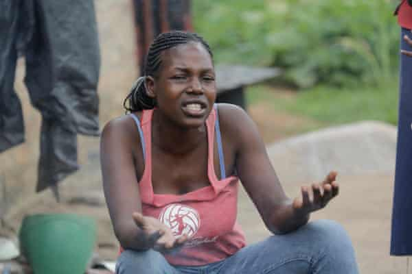 Natasha Tafirenyika, one of the many residents of Hopley suffering hardship under lockdown.