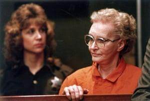 Dorothea Puente appears for arraignment in Sacramento, California municipal court.