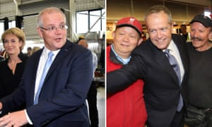 Scott Morrison and Bill Shorten on the campaign trail for the 2019 Australian election.