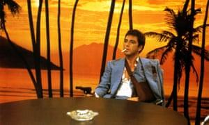 Al Pacino in Brian de Palma's Scarface.