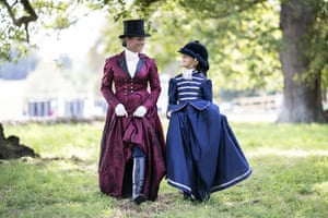 Woodstock, EnglandA mother and daughter Side Saddle Display team stroll through the grounds after their display on the last day of the Blenheim Palace International Horse Trials.