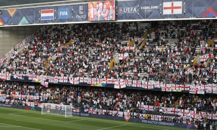 England fans at the Nations League semi-final against the Netherlands.
