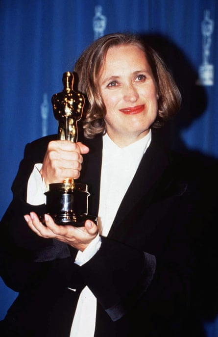 Campion with her best original screenplay Oscar for The Piano in 1994. Photograph: Rex/Shutterstock