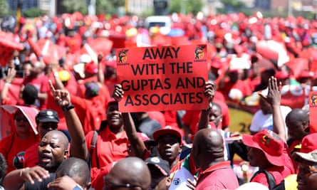 march against corruption and state capture on September 27, 2017 in Durban, South Africa
