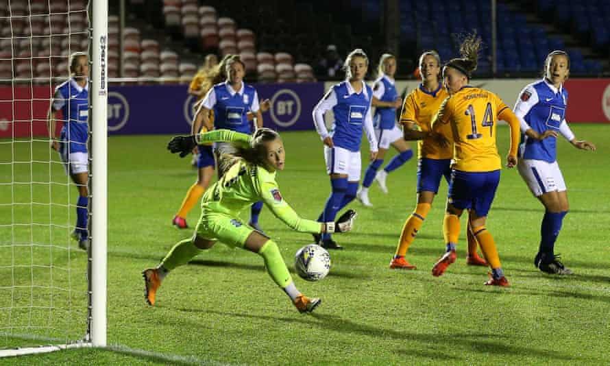 Birmingham City in action against Everton this season.