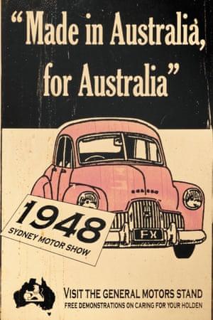 An historical General Motors Holden car advertisement
