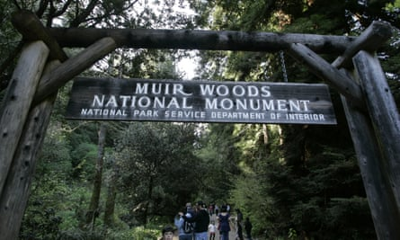 Visitors walk through the Muir Woods National Monument, named after John Muir, in Marin county, California.