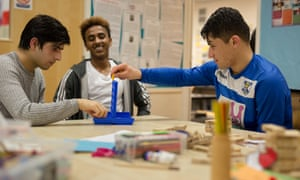 A youth club for young refugees in Birmingham run by the Children's Society.