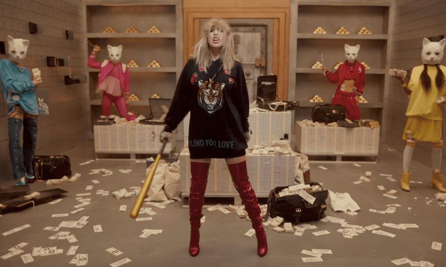 A still from Taylor Swift's music video for her new single Look What You Made Me Do