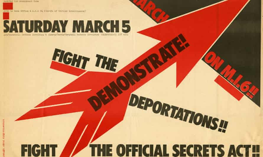 King's 1977 poster for a march against the Official Secrets Act