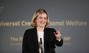 Amber Rudd, the work and pensions secretary, giving a speech about universal credit at Kennington jobcentre in London on Friday