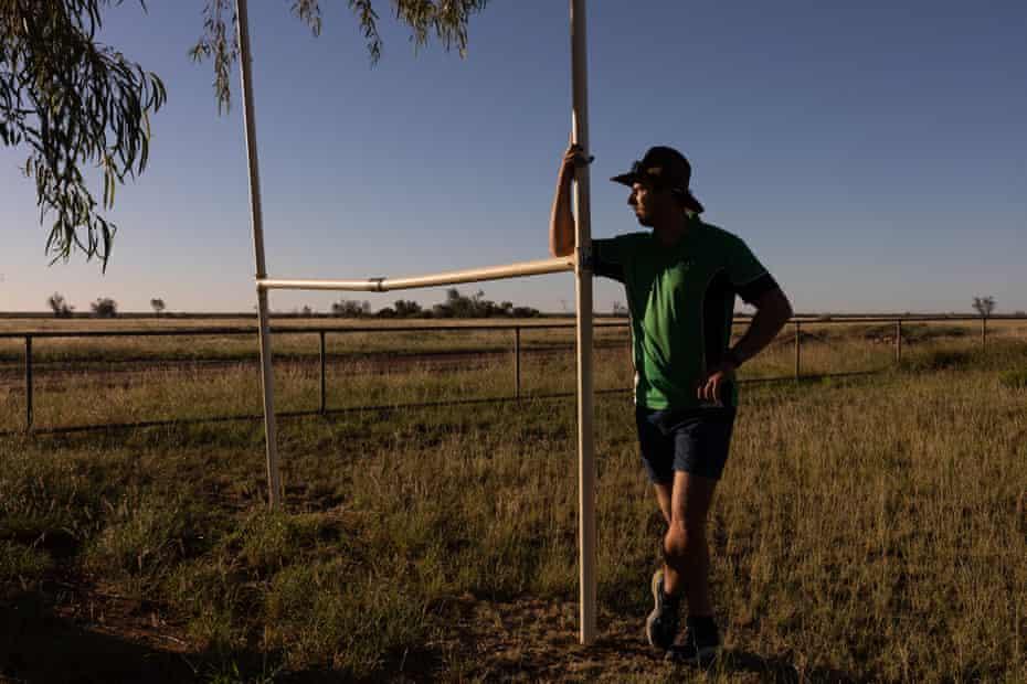 Corey Kempthorne in the school grounds