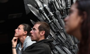 Don't switch off now … fans watch the Game of Thrones season finale at a bar in Marina del Rey, California.
