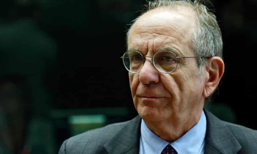 Italian finance minister Pier Carlo Padoan