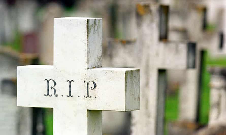 A cross in a graveyard