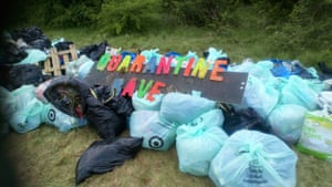 It took 40 volunteers nine hours and 400 bin bags to clean up at Daisy Nook.