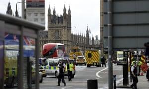Westminster attack scene