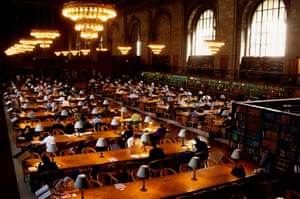 The reading room at New York Public library