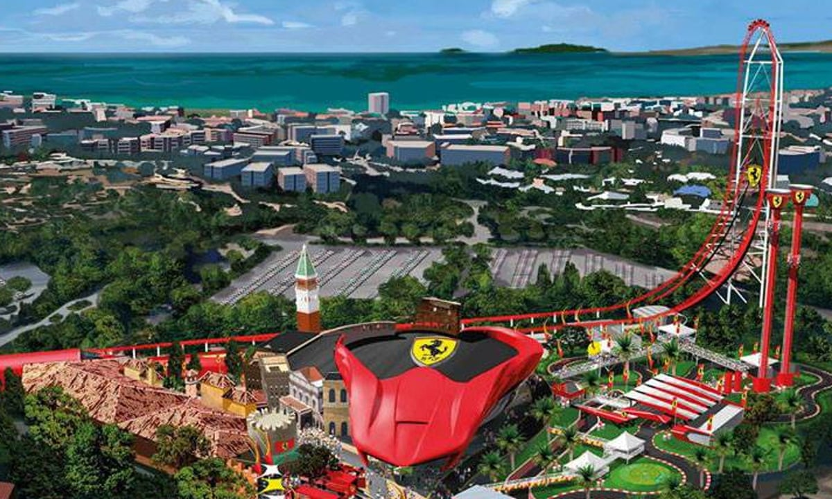 Rev Up For Europe S Fastest Rollercoaster As Ferrari Land Opens In Portaventura In Spain Theme Parks The Guardian