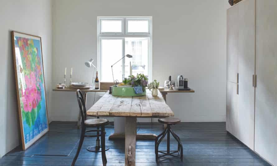 The outsize vintage kitchen table.