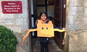 Anaiah, 6, from Milton Keynes dressed as Mr Tickle.