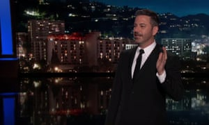 Trump 'jumped from lie to lie, from hot topic to hot topic, like Joy Behar on Adderall', Kimmel said.