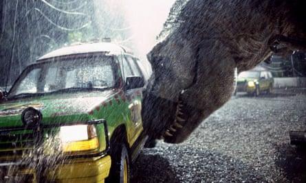 A T rex in Jurassic Park (1993)