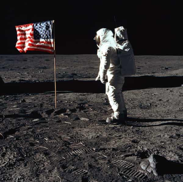 Buzz Aldrin during the Apollo 11 mission.