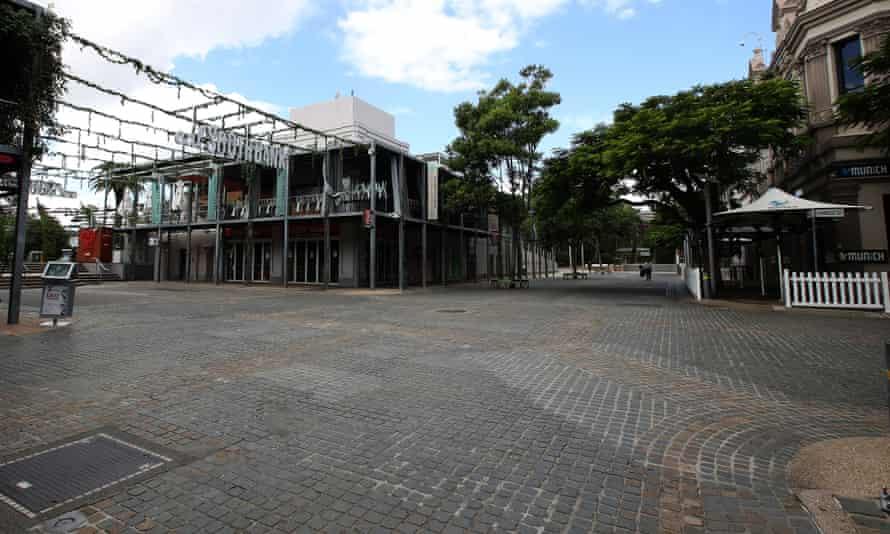 An empty Southbank in Brisbane