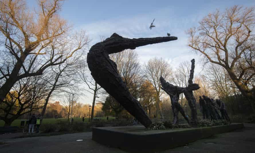 The Slavernijmonument (slavery monument), by Erwin de Vries, in Amsterdam.