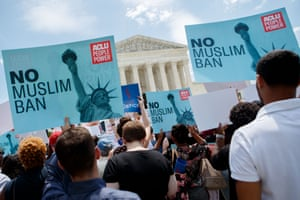 Protests against the supreme court's travel ban decision.